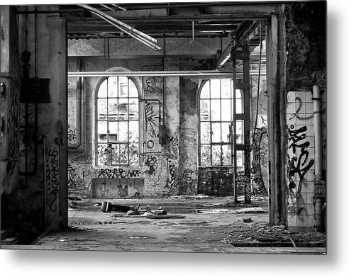 Abandoned Factory Windows - Metal Print from Wallasso - The Wall Art Superstore