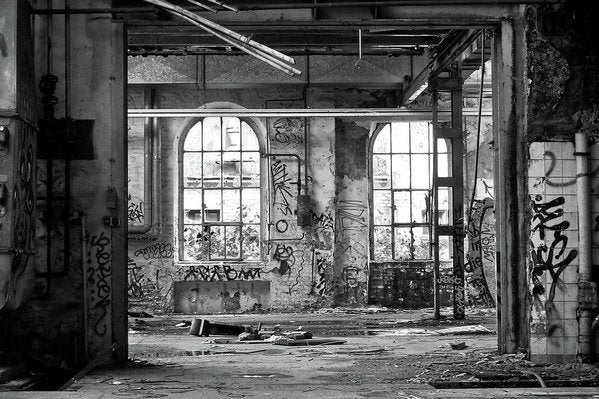 Abandoned Factory Windows - Art Print from Wallasso - The Wall Art Superstore