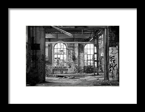 Abandoned Factory Windows - Framed Print from Wallasso - The Wall Art Superstore