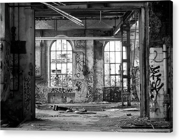 Abandoned Factory Windows - Acrylic Print from Wallasso - The Wall Art Superstore