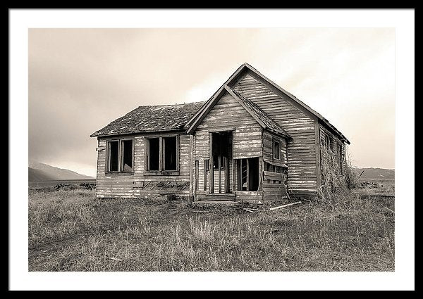 Abandoned Farm House - Framed Print from Wallasso - The Wall Art Superstore