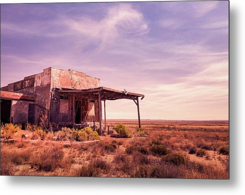 Abandoned Gas Station In Desert - Metal Print from Wallasso - The Wall Art Superstore