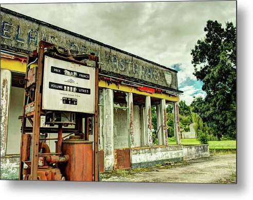 Abandoned Gas Station - Metal Print from Wallasso - The Wall Art Superstore