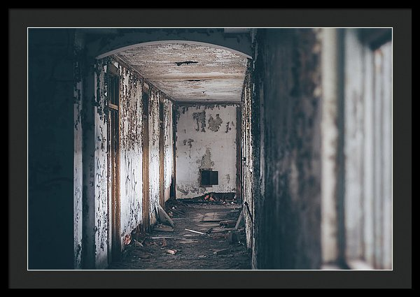 Abandoned Hallway - Framed Print from Wallasso - The Wall Art Superstore