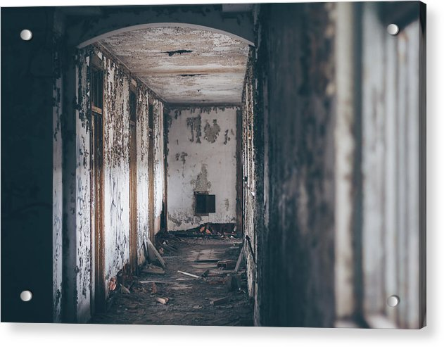 Abandoned Hallway - Acrylic Print from Wallasso - The Wall Art Superstore