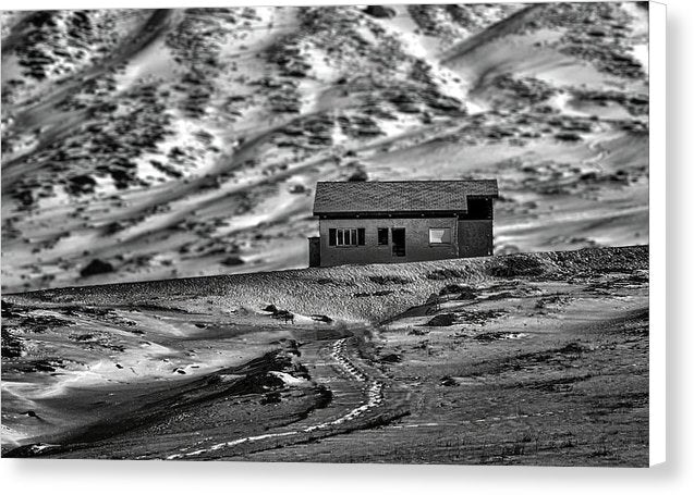 Abandoned House In Desert - Canvas Print from Wallasso - The Wall Art Superstore