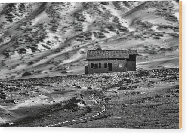 Abandoned House In Desert - Wood Print from Wallasso - The Wall Art Superstore