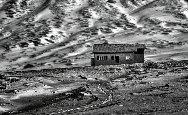 Abandoned House In Desert - Art Print from Wallasso - The Wall Art Superstore
