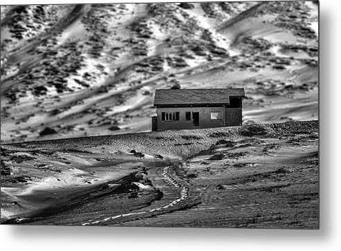 Abandoned House In Desert - Metal Print from Wallasso - The Wall Art Superstore