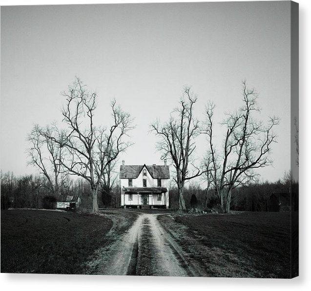 Abandoned House In Rural Maryland - Canvas Print from Wallasso - The Wall Art Superstore