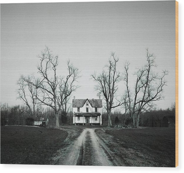 Abandoned House In Rural Maryland - Wood Print from Wallasso - The Wall Art Superstore