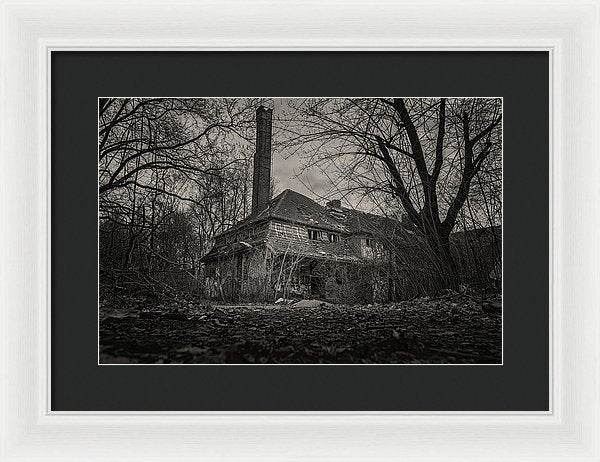 Abandoned House In The Woods - Framed Print from Wallasso - The Wall Art Superstore