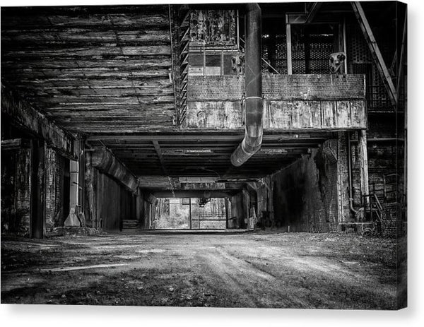 Abandoned Industrial Factory - Canvas Print from Wallasso - The Wall Art Superstore