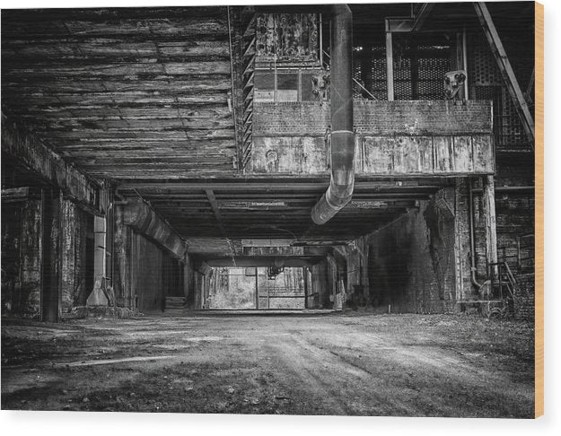Abandoned Industrial Factory - Wood Print from Wallasso - The Wall Art Superstore