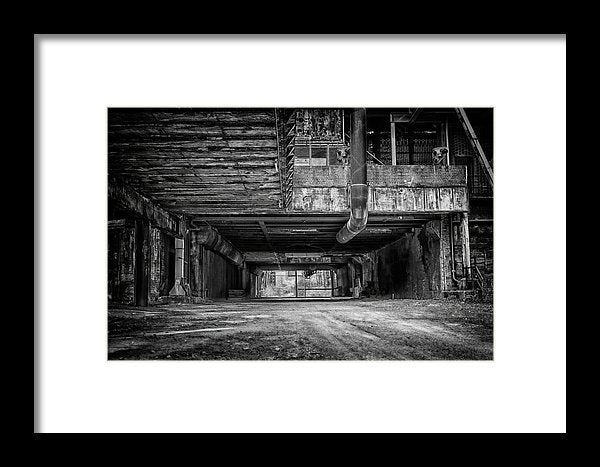 Abandoned Industrial Factory - Framed Print from Wallasso - The Wall Art Superstore