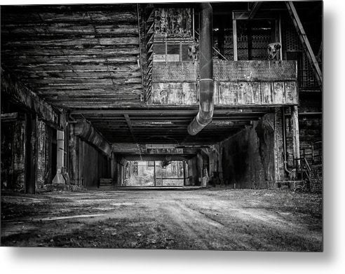 Abandoned Industrial Factory - Metal Print from Wallasso - The Wall Art Superstore