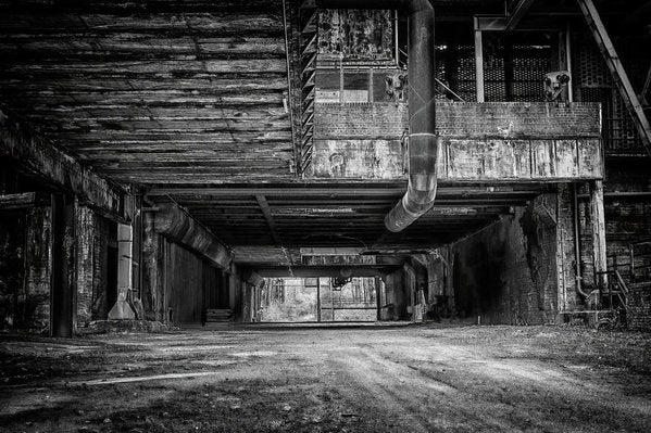 Abandoned Industrial Factory - Art Print from Wallasso - The Wall Art Superstore