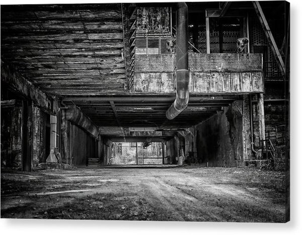 Abandoned Industrial Factory - Acrylic Print from Wallasso - The Wall Art Superstore