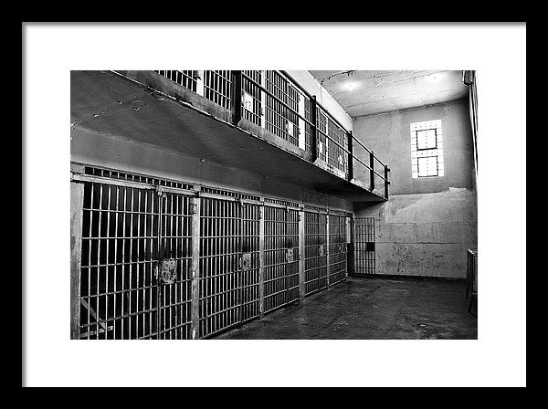 Abandoned Jail Cells - Framed Print from Wallasso - The Wall Art Superstore