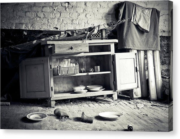 Abandoned Kitchen Hutch - Canvas Print from Wallasso - The Wall Art Superstore