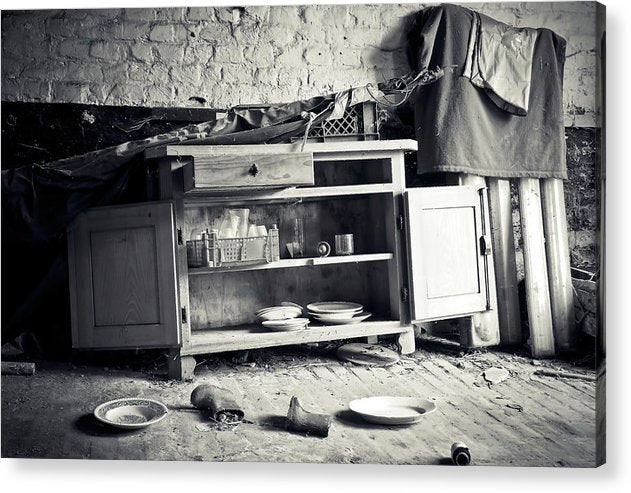 Abandoned Kitchen Hutch - Acrylic Print from Wallasso - The Wall Art Superstore