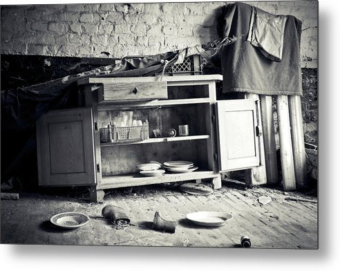 Abandoned Kitchen Hutch - Metal Print from Wallasso - The Wall Art Superstore
