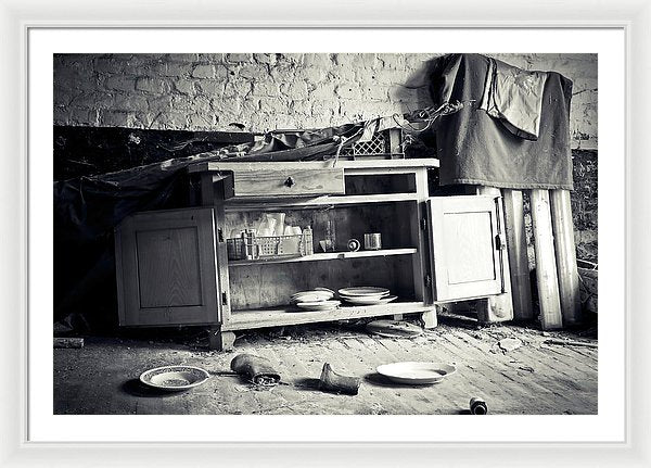 Abandoned Kitchen Hutch - Framed Print from Wallasso - The Wall Art Superstore