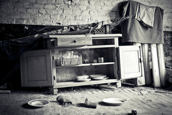 Abandoned Kitchen Hutch - Art Print from Wallasso - The Wall Art Superstore