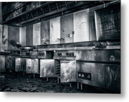 Abandoned Restaurant Kitchen - Metal Print from Wallasso - The Wall Art Superstore
