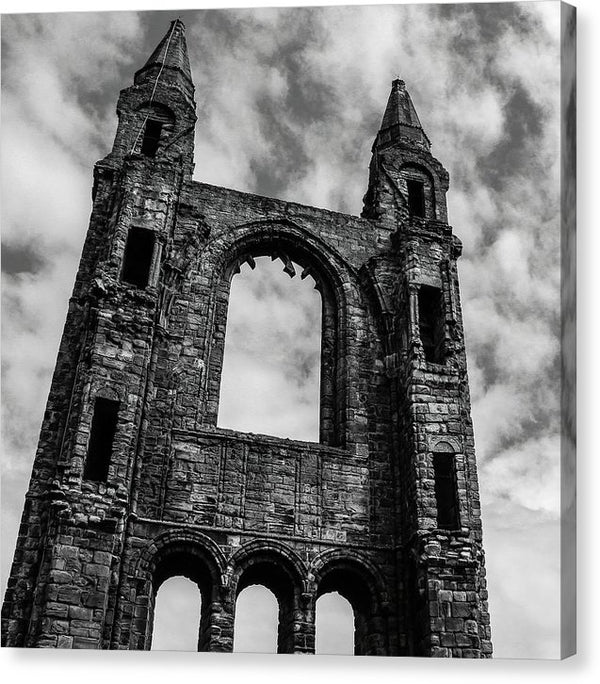 Abandoned Saint andrews Cathedral, Scotland - Canvas Print from Wallasso - The Wall Art Superstore