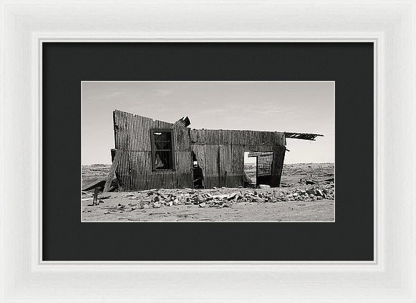 Abandoned Shack In Chilean Desert - Framed Print from Wallasso - The Wall Art Superstore