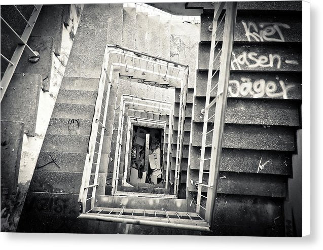 Abandoned Stairwell - Canvas Print from Wallasso - The Wall Art Superstore