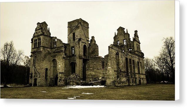 Abandoned Stone Mansion - Canvas Print from Wallasso - The Wall Art Superstore