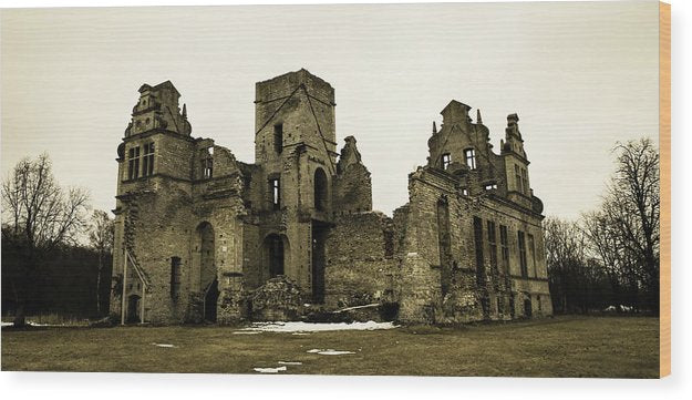 Abandoned Stone Mansion - Wood Print from Wallasso - The Wall Art Superstore