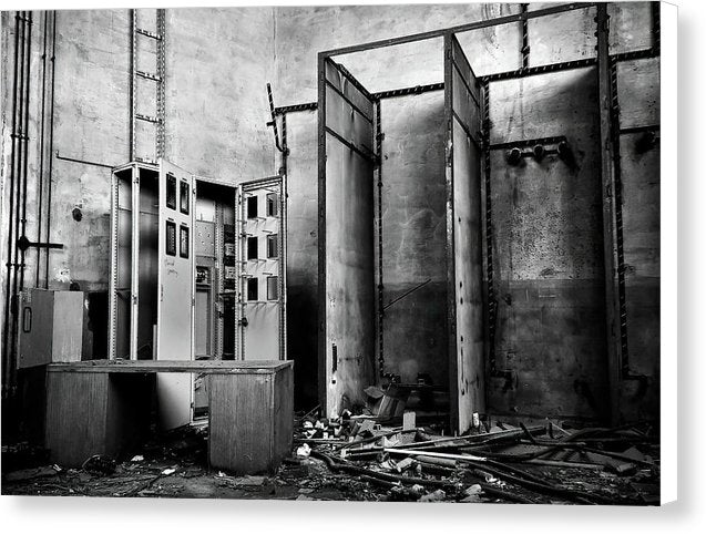 Abandoned Storage Room - Canvas Print from Wallasso - The Wall Art Superstore