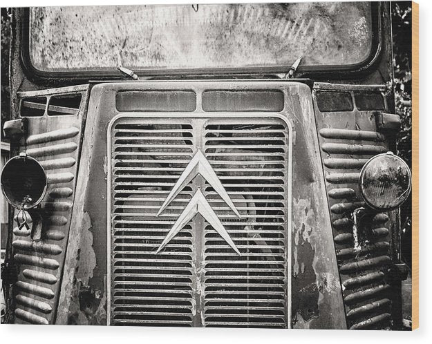 Abandoned Truck Grill - Wood Print from Wallasso - The Wall Art Superstore