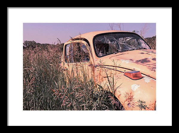 Abandoned Volkswagen Beetle - Framed Print from Wallasso - The Wall Art Superstore