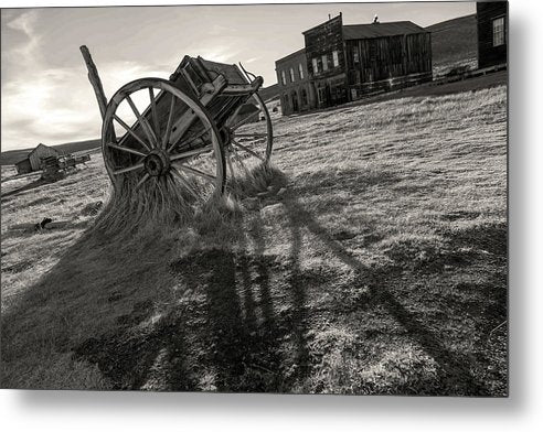 Abandoned Wagon In Ghost Town - Metal Print from Wallasso - The Wall Art Superstore