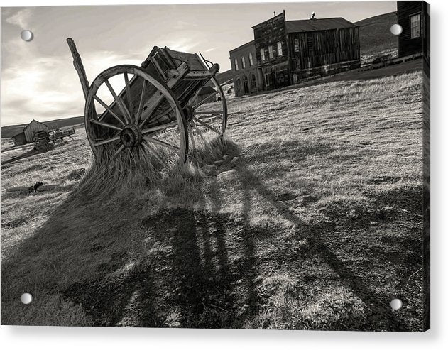 Abandoned Wagon In Ghost Town - Acrylic Print from Wallasso - The Wall Art Superstore