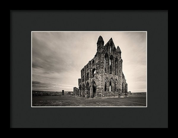 Abandoned Whitby Abbey Church, Sepia - Framed Print from Wallasso - The Wall Art Superstore