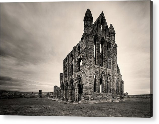 Abandoned Whitby Abbey Church, Sepia - Acrylic Print from Wallasso - The Wall Art Superstore