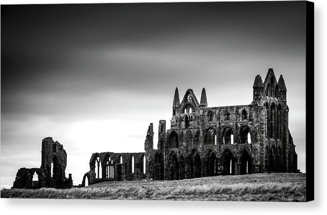 Abandoned Whitby Abbey Church - Canvas Print from Wallasso - The Wall Art Superstore