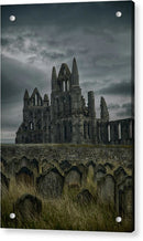 Abandoned Whitby Abbey Church With Tombstones - Acrylic Print from Wallasso - The Wall Art Superstore