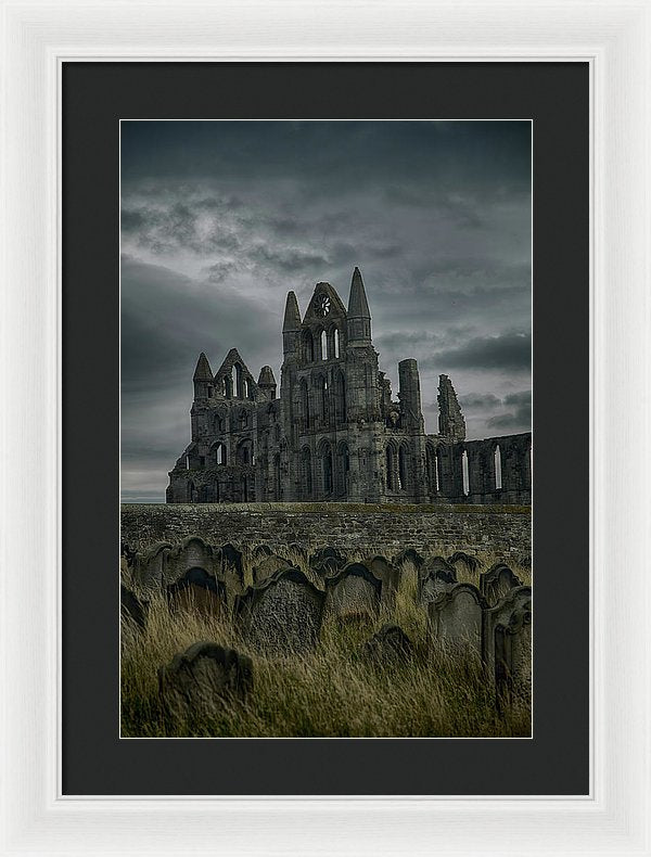 Abandoned Whitby Abbey Church With Tombstones - Framed Print from Wallasso - The Wall Art Superstore