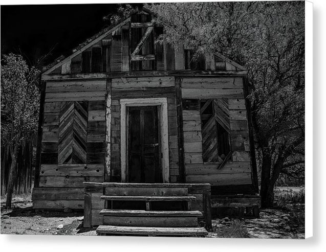 Abandoned Wood House - Canvas Print from Wallasso - The Wall Art Superstore