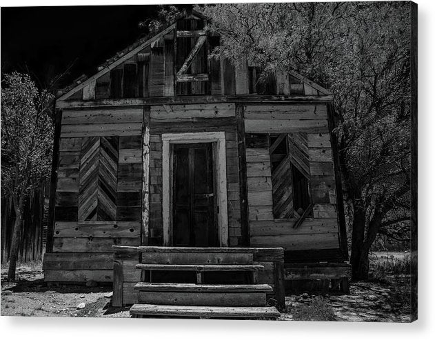 Abandoned Wood House - Acrylic Print from Wallasso - The Wall Art Superstore