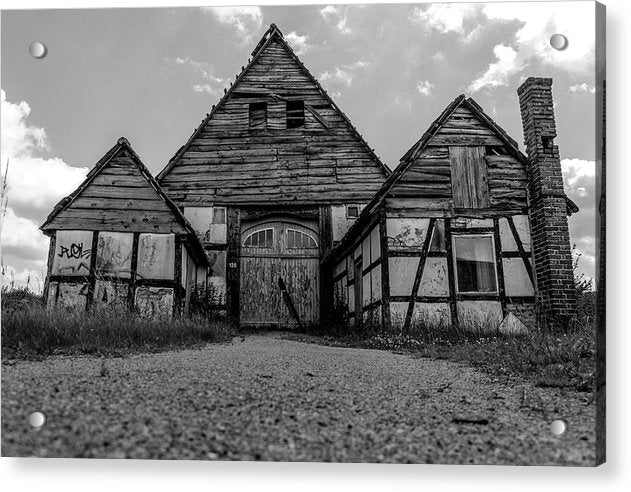 Abandoned Wooden Cottage - Acrylic Print from Wallasso - The Wall Art Superstore