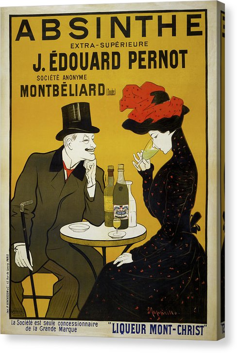 Vintage Absinthe Poster, 1900 - Canvas Print from Wallasso - The Wall Art Superstore