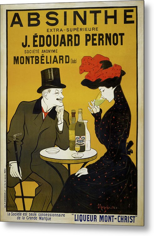 Vintage Absinthe Poster, 1900 - Metal Print from Wallasso - The Wall Art Superstore