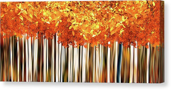 Abstract Autumnal Forest - Canvas Print from Wallasso - The Wall Art Superstore
